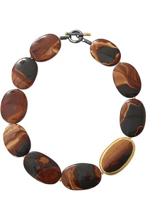 YOSSI HARARI 24kt yellow gold agate necklace