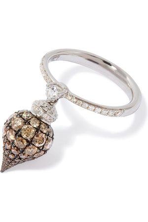 ANNOUSHKA Diamantring i 18K vitguld