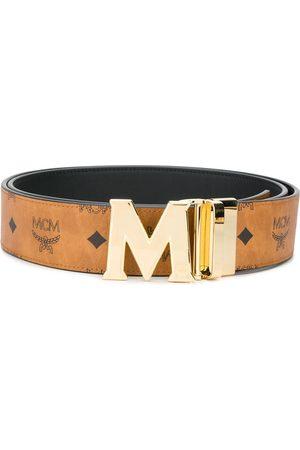 MCM Claus M läderbälte med monogram