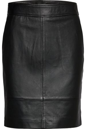 Second Female Francie Mini Leather Skirt Kort Kjol