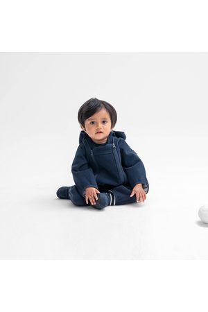 Polarn O. Pyret Baby Bodys - Vindfleeceoverall vattenavvisande baby mörk marinblå