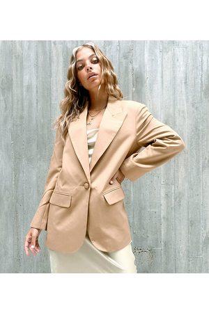 ASOS Kvinna Kavajer - ASOS DESIGN – Petite – Perfect – Kamelfärgad blazer