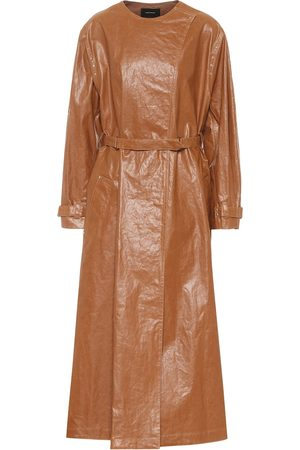 Isabel Marant Kvinna Trenchcoats - Corly linen-blend trench coat