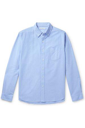 ALEX MILL Button-Down Collar Overdyed Cotton Oxford Shirt