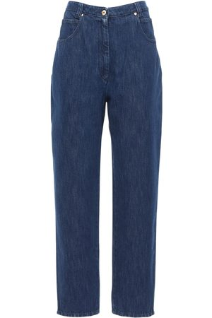 Patou High Waist Cotton Denim Balloon Jeans