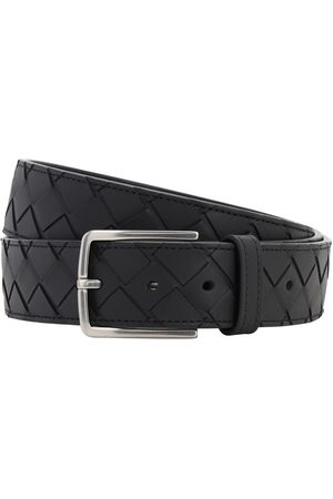 Bottega Veneta 35mm New Intreccio Buckle Leather Belt