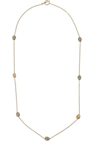 YOSSI HARARI 18kt and 24kt yellow gold diamond bead necklace