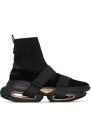Balmain Black B-Bold höga sneakers