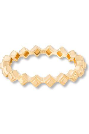 ANNOUSHKA Stepping Stone ring i 18K gult guld