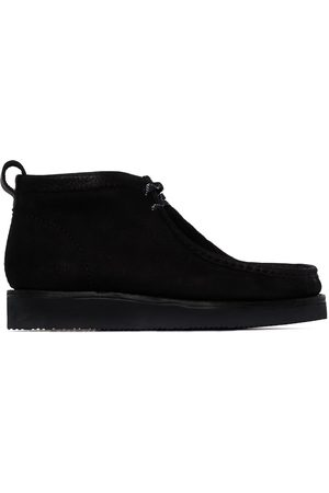 Clarks Black suede wallabee hiking boots