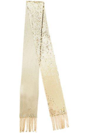 Saint Laurent Thin fringed mesh scarf