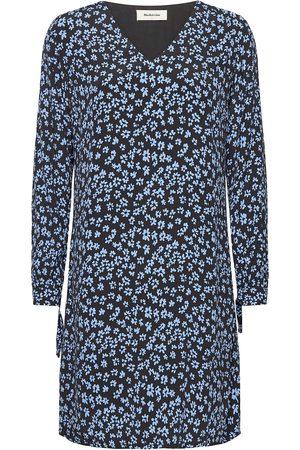 Modstrom Kvinna Festklänningar - Fidel Short Print Dress Kort Klänning Blå