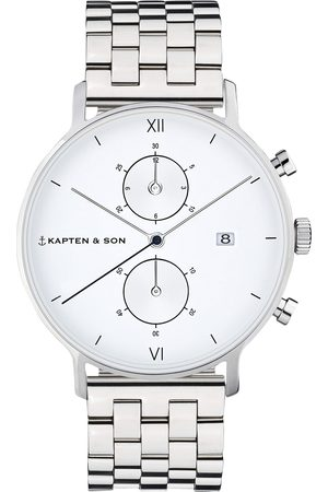 Kapten & Son Analog watch 'Small Chrono Steel