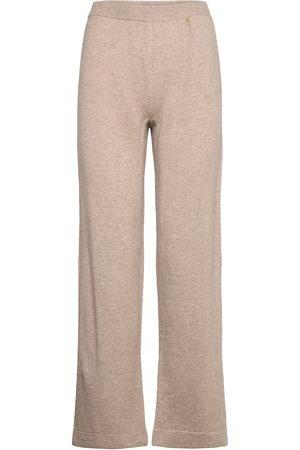 Rosemunde Wool & Cashmere Trousers Byxa Med Raka Ben Rosa