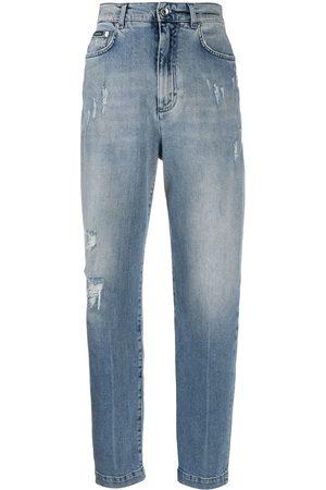 Dolce & Gabbana Boyfriend-jeans med slitning