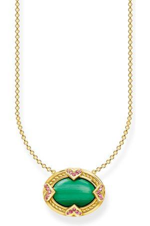 Thomas Sabo Halsband grön sten guld