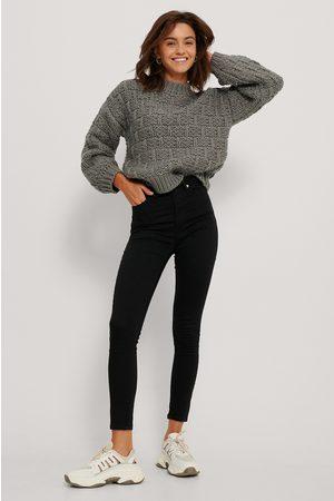 NA-KD Skinny Jeans Med Hög Midja