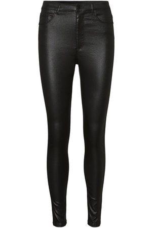 Vero Moda Kvinna High waist - Vmloa Höga Belagda Skinny Fit-jeans Kvinna
