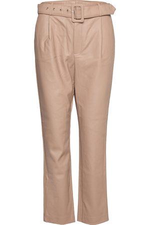 Vila Kvinna Leggings - Vitylda Hwre 7/8 Pants Leather Leggings/Byxor