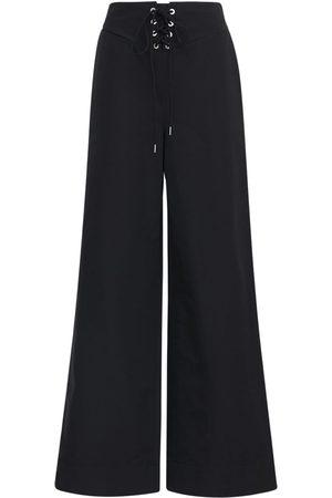DION LEE Cotton & Nylon Wide Leg Pants