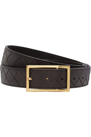 Bottega Veneta 3cm Intrecciato Leather Belt