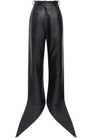 MATÉRIEL by Aleksandre Akhalkatsishvili Faux Leather Pants W/ Self-tie Cuffs