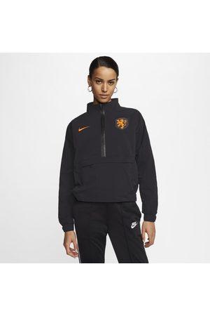 Nike Fotbollströja Netherlands med kvartslång dragkedja för kvinnor