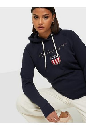 GANT Shield Sweat Hoodie Hoodies Blue