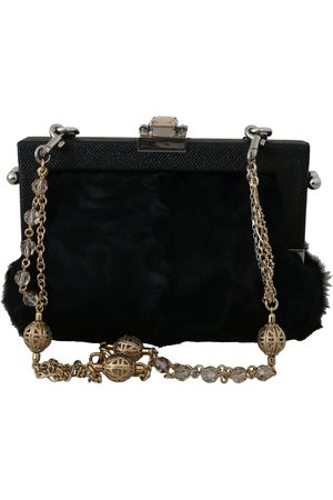 Dolce & Gabbana Brocade Crystal Shoulder Vanda Purse