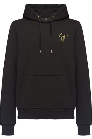Giuseppe Zanotti Embroidered logo drawstring hoodie