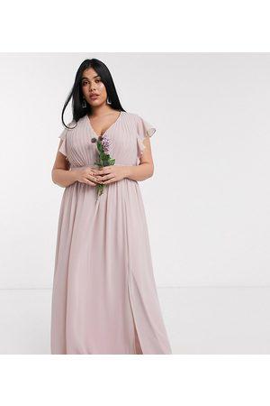 TFNC Kvinna Maxiklänningar - TFNC – Plus – Brudtärna – , urringad maxiklänning med utsvängd ärm