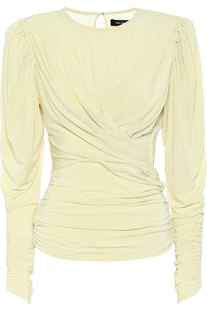Isabel Marant Gimli gathered jersey top