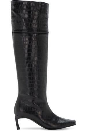 Reike Nen 60mm Crocker Embossed Leather Tall Boots
