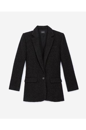The Kooples Buttoned black tweed blazer