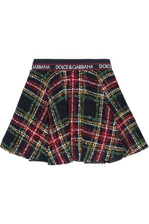 Dolce & Gabbana Checked tweed skirt