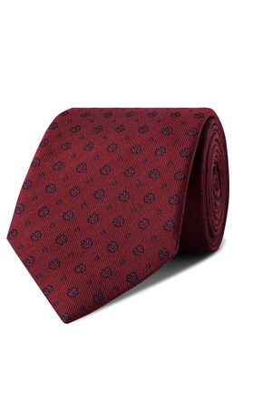 KINGSMAN Drake's 8cm Logo-Embroidered Silk-Faille Tie