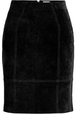 Vila Kvinna Skinnkjolar - Vifaith HW Suede kjol
