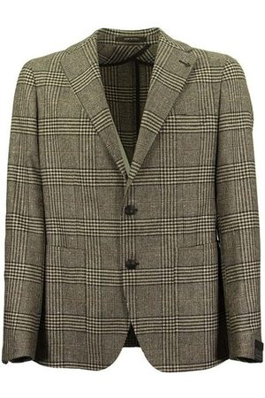 TAGLIATORE Prince of Wales jacket in wool, silk and cashmere