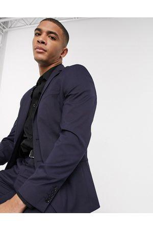 Selected – Marinblå kavaj med smal passform och stretch, del av kostym
