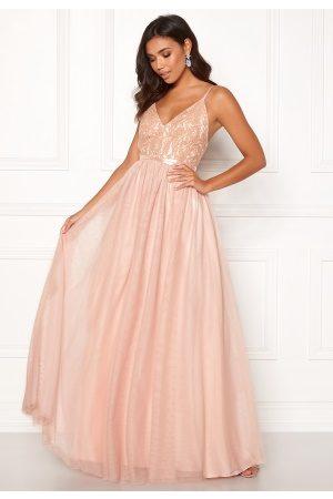 Moments New York Kvinna Festklänningar - Daphne Mesh Gown Light pink 40