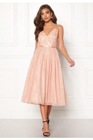 Moments New York Kvinna Festklänningar - Daphne Mesh Dress Dusty pink 36