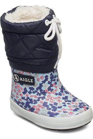 Aigle Ai Giboulee Print Sandy/Blue Vinterstövlar Pull On