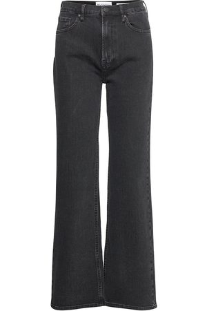 Tomorrow Brown Straight Jeans Original Black Jeans Utsvängda