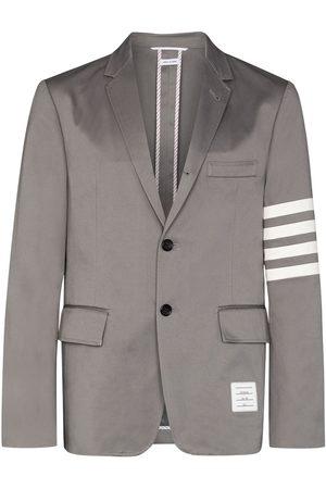 Thom Browne 4-bar enkelknäppt blazer med randdetalj