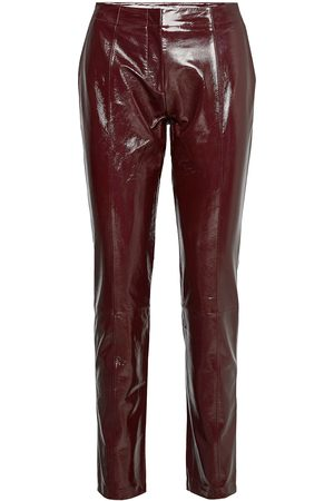2nd Day Kvinna Leggings - 2nd Dean Leather Leggings/Byxor Röd