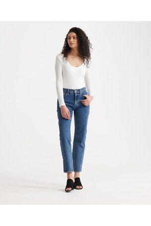 Superdry Kvinna High waist - Raka jeans med hög midja