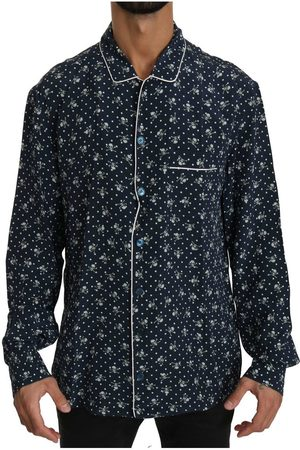 Dolce & Gabbana Silk Top Sleepwear Shirt