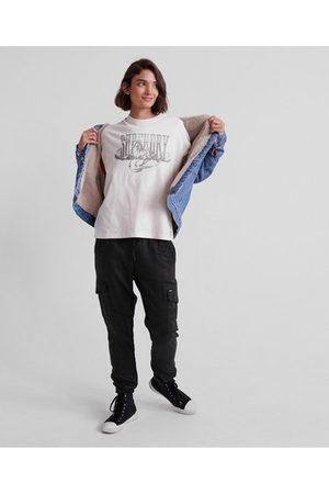 Superdry Kvinna Byxor - Luxe Utility joggingbyxor