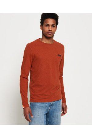Superdry Man Långärmade - Vintage långärmad broderad tröja i ekologisk bomull