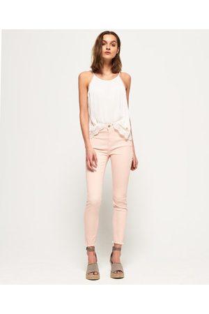 Superdry Kvinna High waist - Sophia smala jeans med hög midja